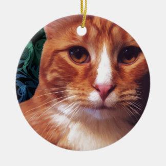 Murphy the Orange Tabby Cat Ceramic Ornament