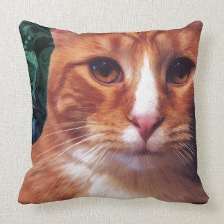 Murphy the Orange Tabby Cat Throw Pillows