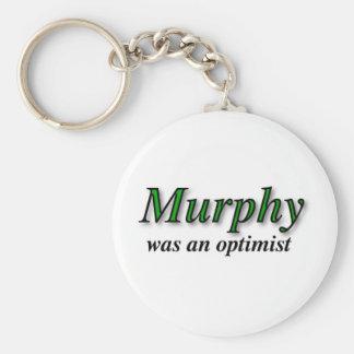 Murphy was an optimist - Murphy's Law Keychain