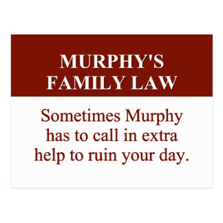 Murphy's Family Law (2) Postcard