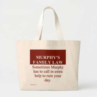 Murphy's Family Law (3) Large Tote Bag