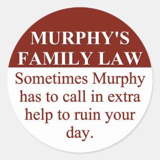 Murphy's Family Law (3) Round Sticker