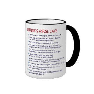 Murphy's Law Chestnut Ringer Mug