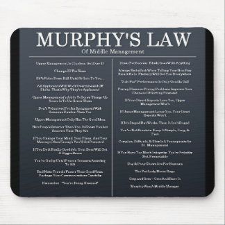 Murphys Laws of Middle Management Mouse Pad