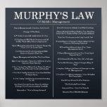 Murphys Laws of Middle Management Print
