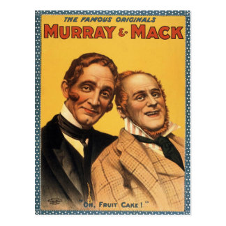 Murray and Mack Vintage Theater Poster Postcard