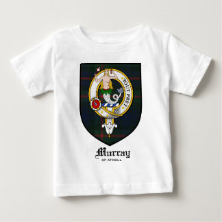 Murray Clan Crest Badge Tartan Baby T-Shirt