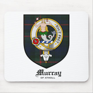 Murray Clan Crest Badge Tartan Mouse Pads