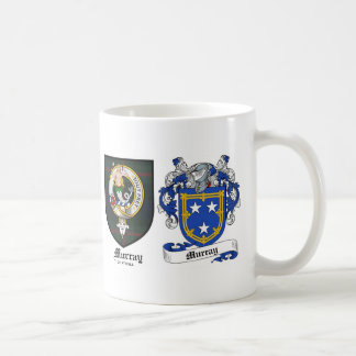 Murray Clan Crest & Murray Coat of Arms Classic White Coffee Mug