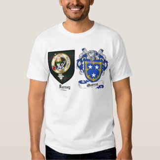 Murray Clan Crest & Murray Coat of Arms T Shirt
