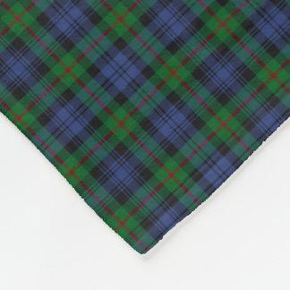 Murray Clan Green and Royal Blue Tartan Fleece Blanket