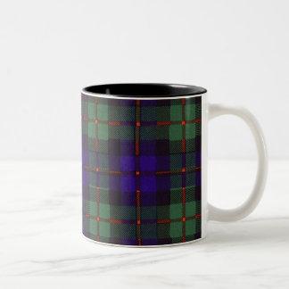 Murray clan tartan scottish plaid Two-Tone coffee mug