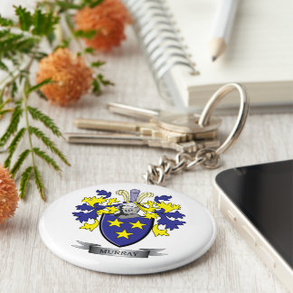 Murray Coat of Arms Keychain
