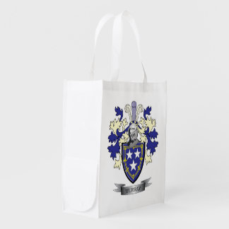 Murray Family Crest Coat of Arms Grocery Bag