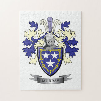 Murray Family Crest Coat of Arms Jigsaw Puzzle