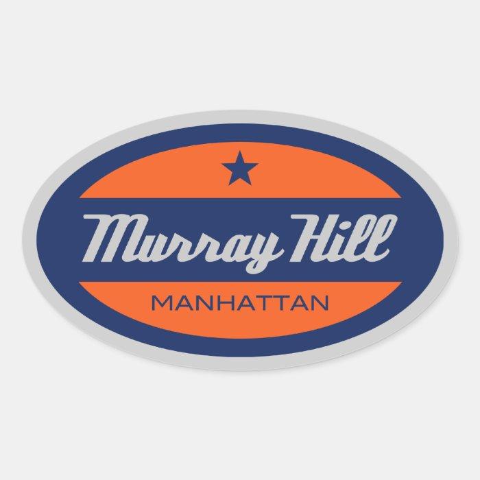 Murray Hill Oval Sticker