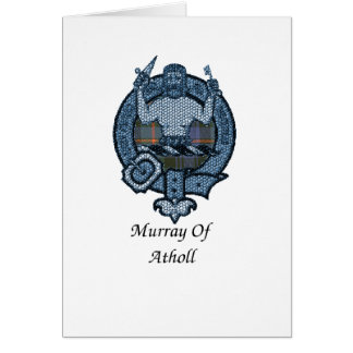 Murray Of Atholl Clan Crest Card