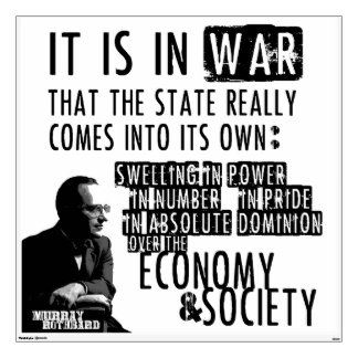 Murray Rothbard Anti-War Anti-State Libertarian Wall Sticker