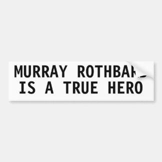 Murray Rothbard es un héroe verdadero Pegatina Para Auto