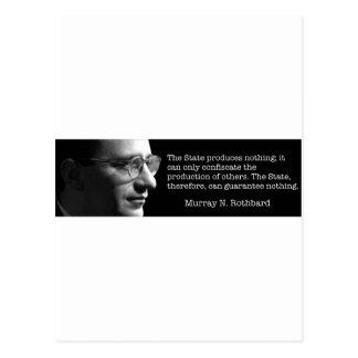 Murray Rothbard Postcard