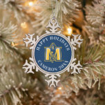 "Murray State Racers Snowflake Pewter Christmas Ornament<br><div class=""desc"">Check out these awesome Murray State University designs and products. These make perfect gifts for the Racer student,  fan,  faculty,  and alumni. All of these products are customizable from Zazzle!</div>"
