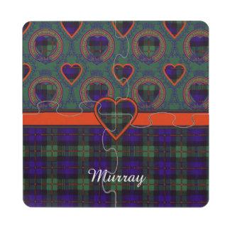 Murray tartan scottish plaid puzzle coaster