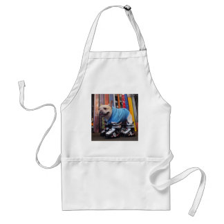 Murray the Frenchie in Ski Boots Adult Apron