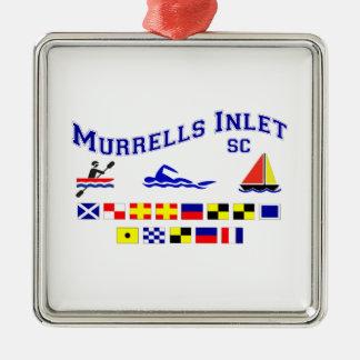 Murrells Inlet SC Signal Flags Metal Ornament
