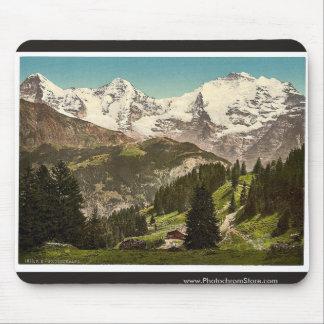 Murren, Grutschalp, I, Eiger, Monch and Jungfrau, Mouse Pad
