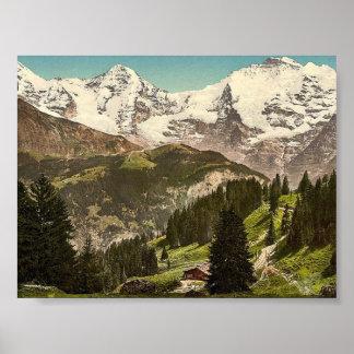 Murren, Grutschalp, I, Eiger, Monch y Jungfrau, Póster