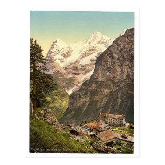Murren, Hotel des Alps, Bernese Oberland, Switzerl Postcard