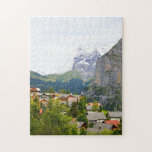 "Murren in Switzerland Jigsaw Puzzle<br><div class=""desc"">A beautiful landscape in the Swiss alps by Helen A. Lisher.</div>"