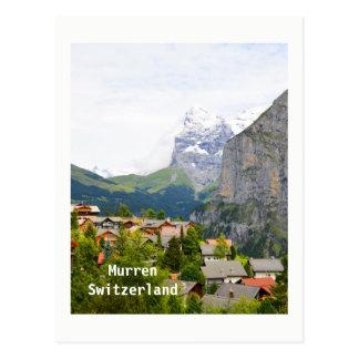 Murren in Switzerland Postcard