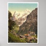 Murren, montañas del DES del hotel, Bernese Oberla Posters