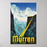 Murren Switzerland Vintage Travel Poster