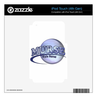 MURSE LOGO (MALE NURSE) DECAL FOR iPod TOUCH 4G