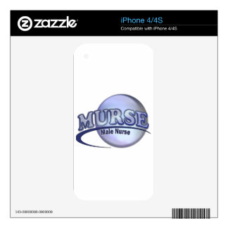 MURSE LOGO (MALE NURSE) DECALS FOR iPhone 4S