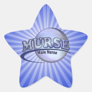 MURSE LOGO (MALE NURSE) STAR STICKER
