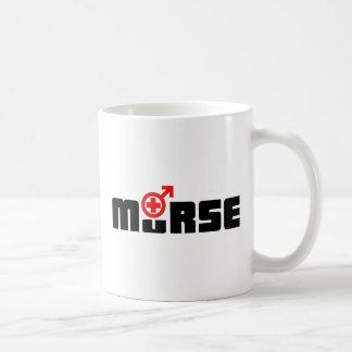 Murse logo on white coffee mug