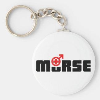 Murse logo on white keychain