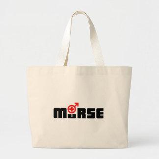 Murse logo on white large tote bag