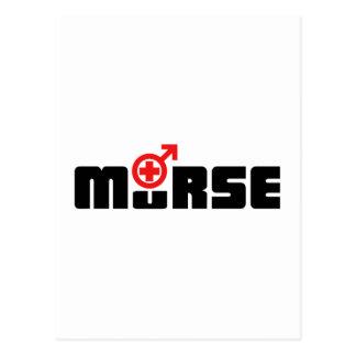 Murse logo on white postcard