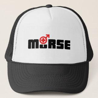 Murse logo on white trucker hat