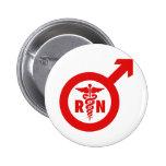 Murse Male Nurse Symbol Buttons