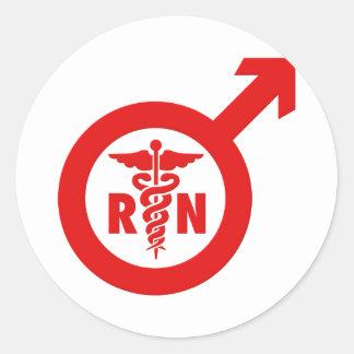 Murse Male Nurse Symbol Classic Round Sticker