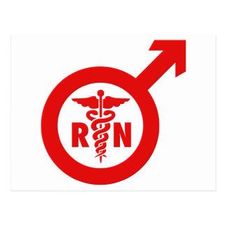 Murse Male Nurse Symbol Postcard