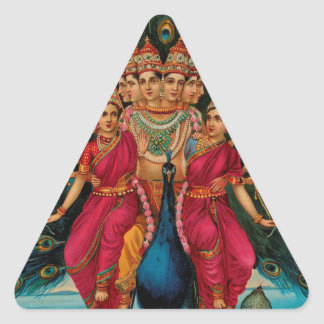 MURUGAN HINDU GOD TRIANGLE STICKER