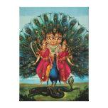 Murugan Kartikeyan Skanda Subrahmanyan Hindu Deity Stretched Canvas Prints