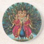 Murugan Kartikeyan Skanda Subrahmanyan Hindu Deity Drink Coaster