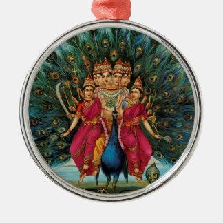 Murugan Kartikeyan Skanda Subrahmanyan Hindu Deity Metal Ornament